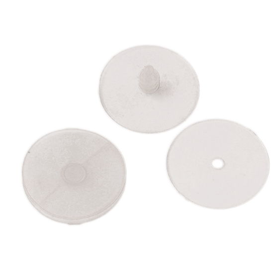 Silicone septal buttons